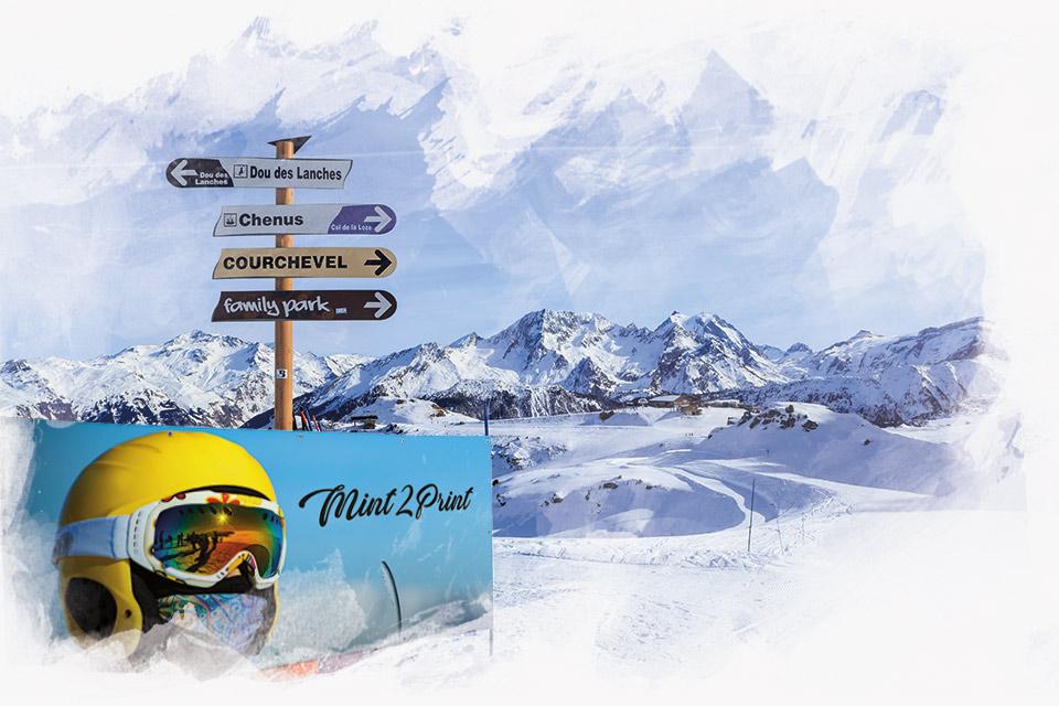 Banery reklamowe na stok narciarski