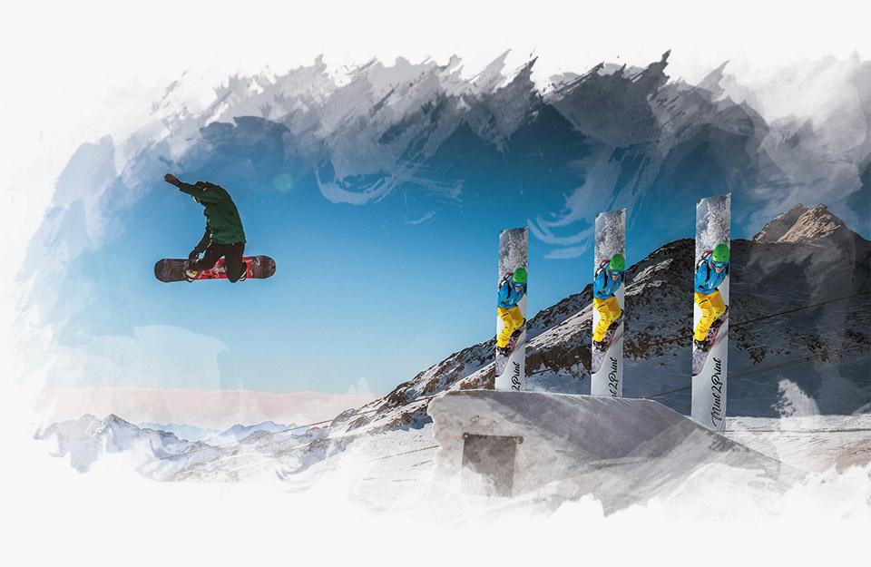 Flagi reklamowe na stok narciarski