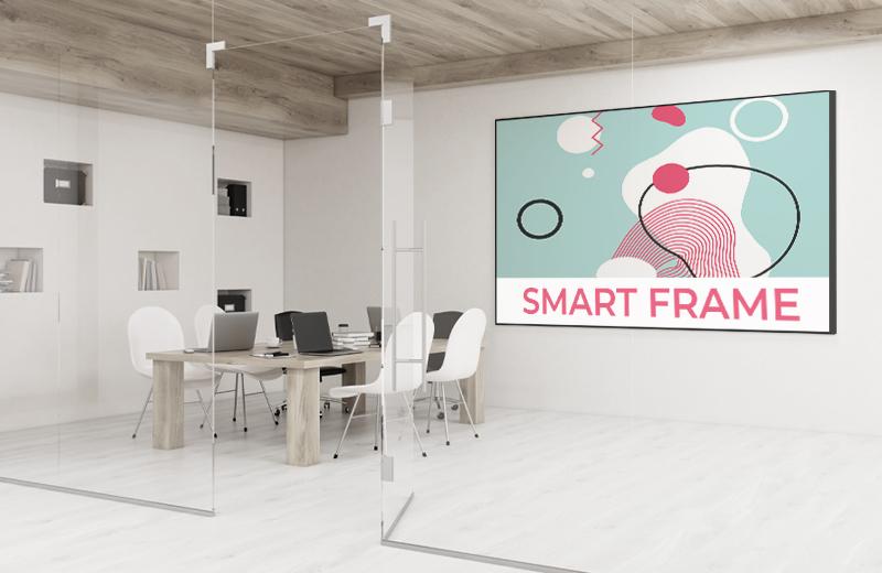 smart frame - reklama podświetlana, tkaniny napinane na ramach z nadrukiem